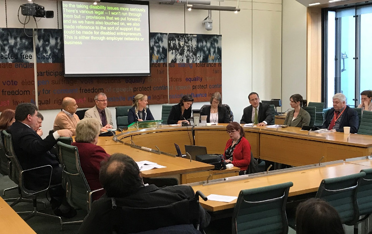 "APPG-Disability Meeting January 2018  ""Ahead of the Arc"" one year on"