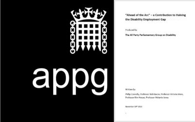 Disability@Work action on Ahead of the Arc publicised in APPG for Disability blogs