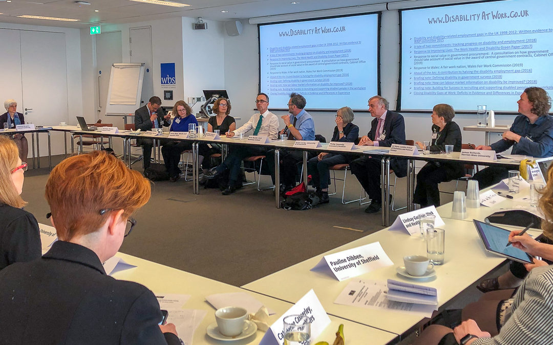Disability@Work round table brings together leading academics with key government officials