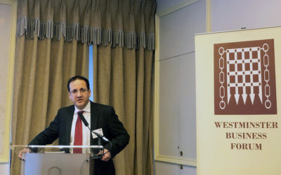 Kim Hoque addresses Westminster Business Forum